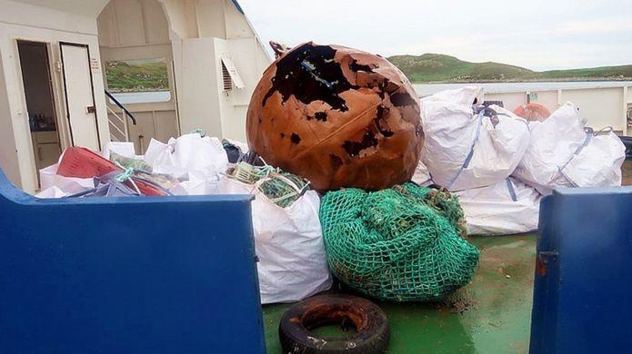 captured marine litter