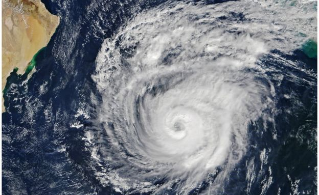 storm seen from space satellite