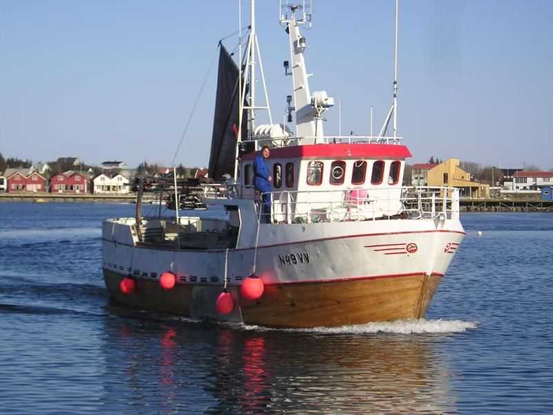 Fishing trawler going out to sea